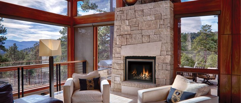 Fireplace in a living room