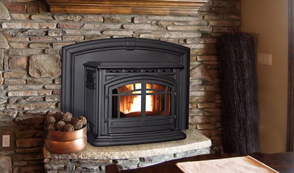 Enviro The M55 Cast Iron Pellet Fireplace Insert
