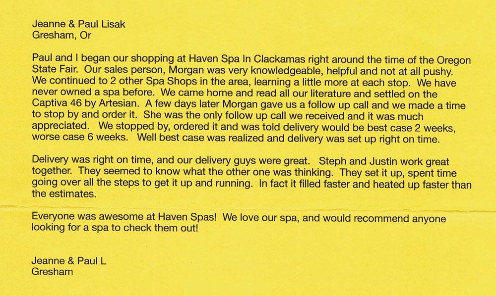 Jean & Paul Spa Review